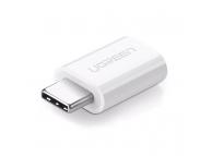 Adaptor Conversie MicroUSB la USB Type-C UGREEN, Alb, Bulk