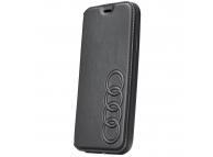 Husa Piele AUDI Folio Apple iPhone XR, Neagra, Blister AU-TPUFCIPXR-TT/D1-BK