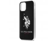 Husa TPU U.S. Polo Shiny Big Logo pentru Apple iPhone 12 mini, Neagra USHCP12STPUHRBK