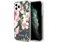 Husa Plastic - TPU Guess Flower Shiny N.3 pentru Apple iPhone 11 Pro, Bleumarin, Blister GUHCN58IMLFL03