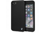 Husa Piele BMW Signature Perforated pentru Apple iPhone 8, Neagra, Blister BMHCI8PEBOBK