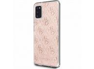 Husa Piele Guess 4G Stripe pentru Samsung Galaxy A41, Roz, Blister GUHCA41PCU4GLP