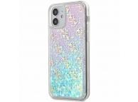 Husa Plastic - TPU Guess 4G Liquid Glitter Iridescent pentru Apple iPhone 12 mini, Multicolor GUHCP12SLG4GGBLPI