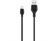 Cablu Date si Incarcare USB la Lightning XO Design NB103, 2 m, 2.1A, Negru, Blister