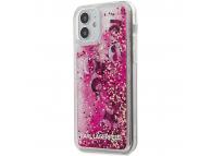 Husa TPU Guess Liquid Glitter Charms pentru Apple iPhone 12 Pro Max, Roz, Blister KLHCP12LROPI