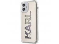 Husa TPU Karl Lagerfeld Liquid Glitter Multi Mirror pentru Apple iPhone 12 mini, Argintie KLHCP12SKLMLGR