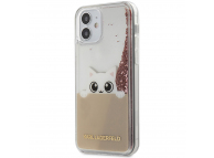 Husa TPU Guess Liquid Glitter Peek a Boo pentru Apple iPhone 12 Pro Max, Roz, Blister KLHCP12LPABGNU