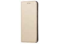 Husa Piele OEM Smart Magnet pentru Motorola Moto G9 Play, Aurie