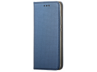 Husa Piele OEM Smart Magnet pentru Motorola Moto G9 Play, Bleumarin