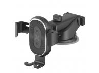 Incarcator auto Wireless MaxCom Mount Gravity Induction, Quick Charge, 10W, Negru