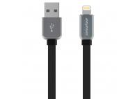 Cablu Date si Incarcare USB la Lightning iMyMax DC - 006, 1 m, Led, Negru Gri, Blister