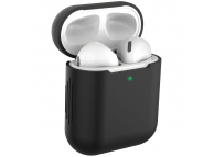 Husa Protectie Casti Tech-Protect Icon pentru Apple AirPods Gen 1 / Apple AirPods Gen 2, Neagra, Blister