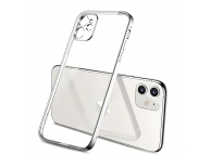 Husa TPU OEM pentru Apple iPhone 11, Imitatie Design Iphone 12, Argintie, Bulk