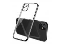 Husa TPU OEM pentru Apple iPhone 11, Imitatie Design Iphone 12, Neagra, Bulk