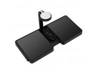 Incarcator Retea Wireless OEM 4 in 1, pentru Telefon, iWatch si AirPods, 10W, Qi, Negru, Blister