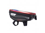 Geanta Impermeabila WILDMAN E1, Pentru Bicicleta, Rezistenta la apa, + accesorii, Rosie, Blister