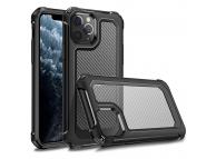 Husa Plastic - TPU OEM Carbon Tough Armor pentru Apple iPhone 11 Pro, Neagra Transparenta, Bulk