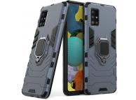 Husa Plastic - TPU OEM Ring Tough Armor Kickstand pentru Samsung Galaxy A51 5G A516, Bleumarin, Bulk