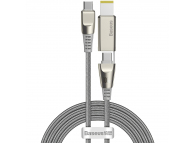 Cablu Incarcare USB Type-C la USB Type-C / M25 Baseus CA1T2, 2in1, 2 m, 100W, 5A, Interfata Laptop Lenovo M25, Gri, Blister CA1T2-B0G