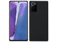 Husa Fibra Aramida Pitaka MagEz pentru Samsung Galaxy Note 20 N980 / Samsung Galaxy Note 20 5G N981, Car Case Magnet, Tesatura diagonala (Twill), Neagra Gri, Blister KP8001P