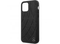 Husa Piele MERCEDES Genuine Leather pentru Apple iPhone 12 / Apple iPhone 12 Pro, Neagra MEHCP12MDIQBK