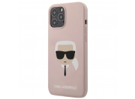 Husa TPU Karl Lagerfeld Head pentru Apple iPhone 12 / Apple iPhone 12 Pro, Roz, Blister KLHCP12SSLKHLP