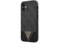 Husa Plastic - TPU Guess 4G Triangle pentru Apple iPhone 12 mini, Gri, Blister GUHCP12SPU4GHBK