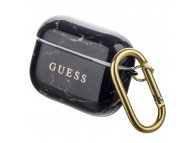 Husa Protectie Casti Guess Marble pentru Apple AirPods Pro, Neagra GUACAPTPUMABK