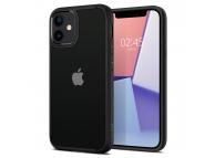 Husa Plastic - TPU Spigen ULTRA HYBRID pentru Apple iPhone 12 mini, Neagra Transparenta, Blister ACS01746