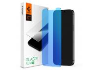 Folie Protectie Ecran Spigen Antiblue pentru Apple iPhone 12 / Apple iPhone 12 Pro, Sticla securizata AGL01514