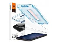 Folie Protectie Ecran Spigen EZ FIT pentru Apple iPhone 12 / Apple iPhone 12 Pro, Sticla securizata, Set 2 bucati AGL01801