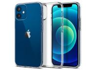 Husa TPU Spigen Liquid Crystal pentru Apple iPhone 12 mini, Transparenta, Blister ACS01740
