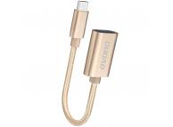 Adaptor OTG USB la USB Type-C Dudao L15T, Auriu, Blister