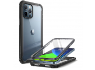 Husa Plastic - TPU Supcase Iblsn Ares pentru Apple iPhone 12 / Apple iPhone 12 Pro, Full Cover, Neagra, Blister