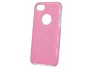 Husa TPU OEM Glitter 3in1 pentru Samsung Galaxy A21s, Roz, Bulk
