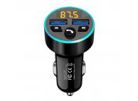 Modulator FM Bluetooth Halo AUTO, Mp3 Player, Buton Apel, 2xUSB, 3.1A, Negru