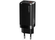 Incarcator Retea USB Usams, 1 X USB - 2 x USB Tip-C, 65W PD, Negru, Blister CC110TC01