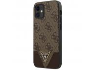 Husa Plastic - TPU Guess 4G Triangle pentru Apple iPhone 12 mini, Maro GUHCP12SPU4GHBR