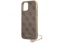 Husa TPU Guess 4G Charms Collection pentru Apple iPhone 12 mini, Maro GUHCP12SGF4GBR