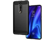 Husa TPU OEM Carbon pentru Xiaomi Redmi 9A, Neagra, Bulk