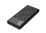 Baterie Externa Powerbank XO Design PR110, 10000 mA, Power Delivery (PD) - Quick Charge 3.0, Neagra, Blister