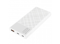 Baterie Externa Powerbank XO Design PR110, 10000 mA, Power Delivery (PD) - Quick Charge 3.0, Alba, Blister