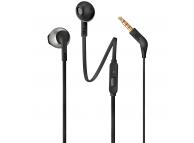 Handsfree Casti In-Ear JBL T205, Cu microfon, 3.5 mm, Negru, Blister JBL-T205-HSET