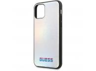 Husa TPU - Piele Guess Iridescent pentru Apple iPhone 11 Pro Max, Argintie, Blister GUHCN65BLD