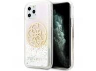 Husa Plastic - TPU Guess Glitter Circle pentru Apple iPhone 11 Pro Max, Roz Aurie, Blister GUHCN65LGIRGP
