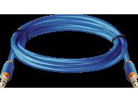 Cablu Audio 3.5 mm la 3.5 mm Defender JACK01-03, 1.2 m, Albastru, Bulk