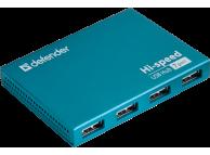 Hub USB Defender Septima Slim USB2.0, 7x USB, AC adapter 2A, Bleu, Blister