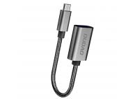 Adaptor OTG USB la MicroUSB Dudao L15M, Negru, Blister
