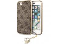 Husa TPU Guess Charms 4G pentru Apple iPhone 7 / Apple iPhone 8 / Apple iPhone SE (2020), Maro, Blister GUHCI8GF4GBR