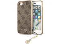 Husa TPU Guess Charms 4G pentru Apple iPhone 7 / Apple iPhone 8 / Apple iPhone SE (2020), Maro GUHCI8GF4GBR
